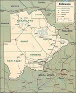 See Map of Botswana
